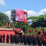 HUT Partai, Kader PDI Perjuangan Jawa Timur Gelar Upacara
