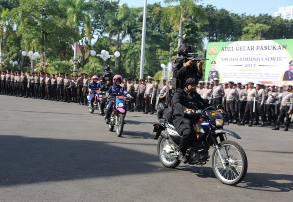 Polrestabes Surabaya Gelar Apel Operasi Pengamanan Lebaran