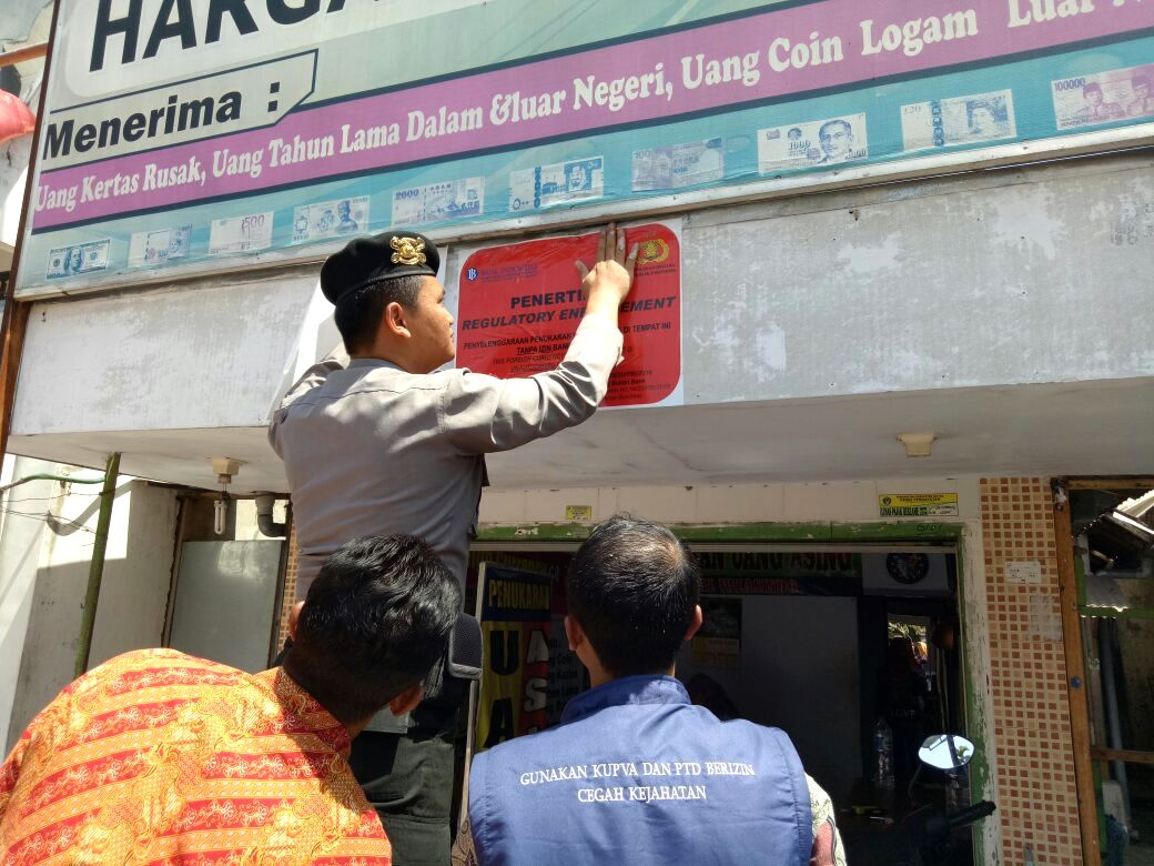 BI Kediri Lakukan Penertiban Usaha Money Changer Ilegal