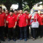 Tari Jejer Gandrung Iringi Rombongan PDI Perjuangan Daftar ke KPUD Banyuwangi