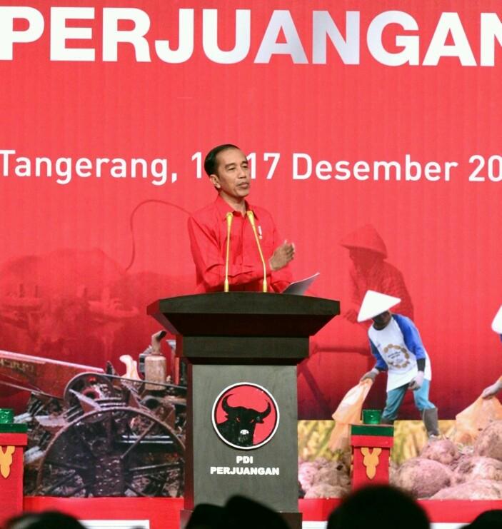 Presiden Jokowi Ajak Kader PDI Perjuangan Tumbuhkan Semangat Berdikari, Gotong Royong dan Kerja Sama