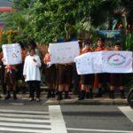 Kampanye Peduli Anak, Ribuan Pelajar Turun ke Jalan
