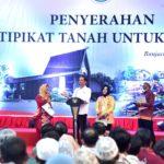 Presiden Jokowi Tegaskan Program Sertifikat Tanah Bermanfaat Bagi Rakyat