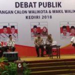 Acara Debat Paslon Pilkada Kota Kediri Diwarnai Aksi Protes