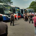 Petugas Gabungan di Kediri Temukan Armada Bus Tidak Layak Operasi Saat Mudik Lebaran
