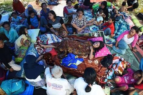 Berjuang Melahirkan di Posko Gempa Lombok