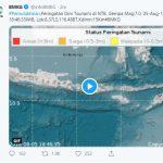 Lombok Utara Diguncang Gempa 7 SR, Potensi Terjadi Tsunami