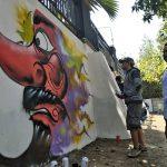 Lomba Mural dan Grafiti Semarakkan HUT Kemerdekaan di Kediri