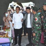 Presiden Jokowi Kunjungi Korban Gempa Lombak 7 SR