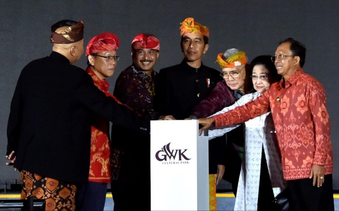 Presiden Jokowi Resmikan Patung Garuda Wisnu Kencana