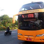 Bus Tingkat Kembali Uji Coba Rute di Surabaya