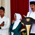 Presiden Jokowi Ajak Para Santri Pelihara Kerukunan dan Persatuan