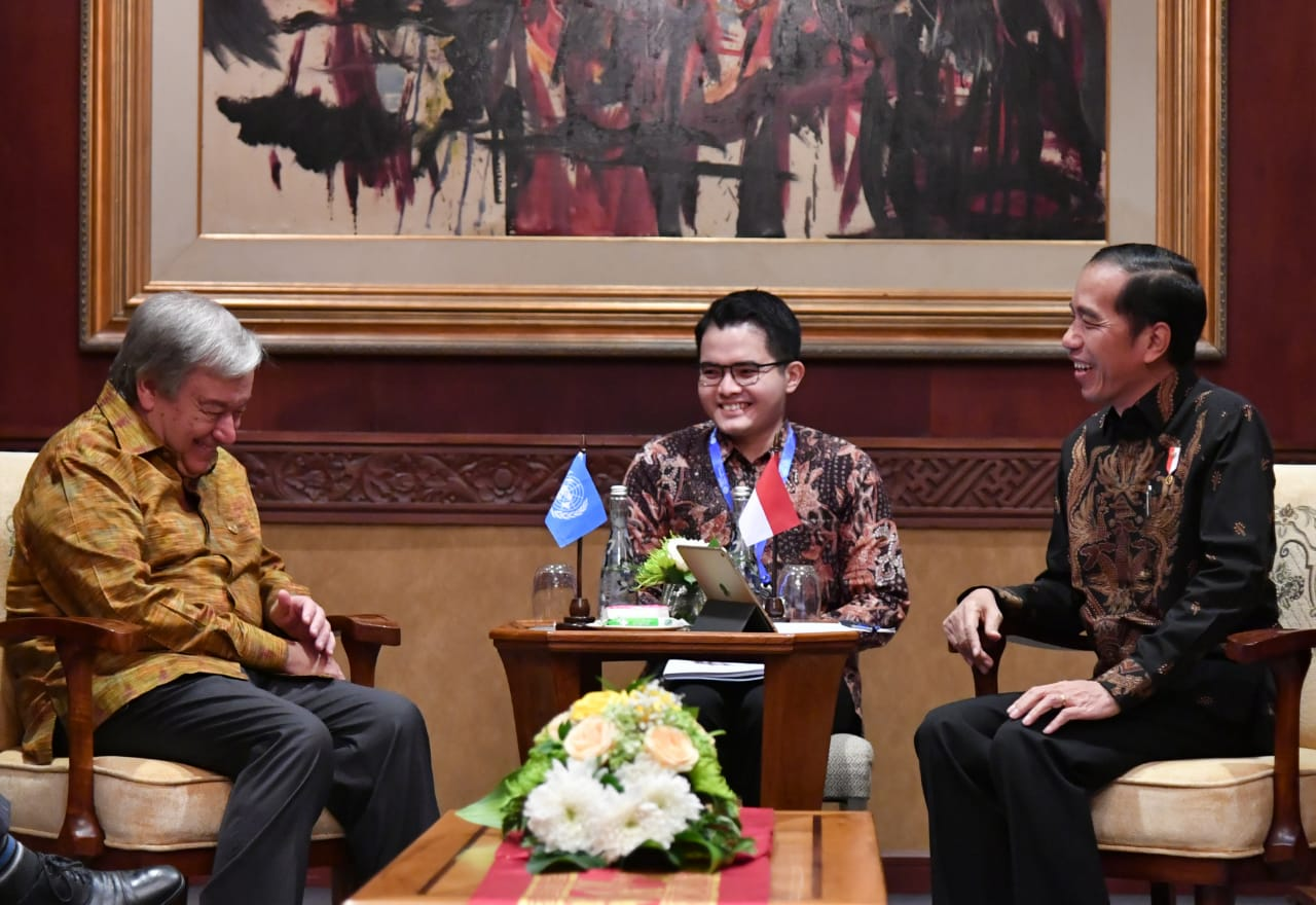 Sekjen PBB Puji Presiden Jokowi Atas Penanganan Bencana di Lombok dan Sulawesi Tengah