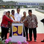 Presiden Jokowi Resmikan Jalan Tol Sragen-Ngawi