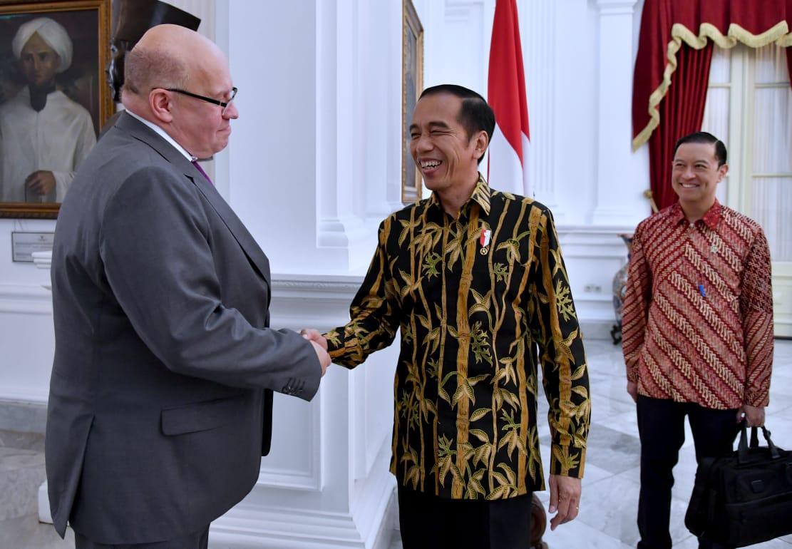 Presiden Jokowi Bahas Revolusi Industri 4.0 Hingga Vokasi Saat Menerima Menteri Ekonomi dan Energi Jerman