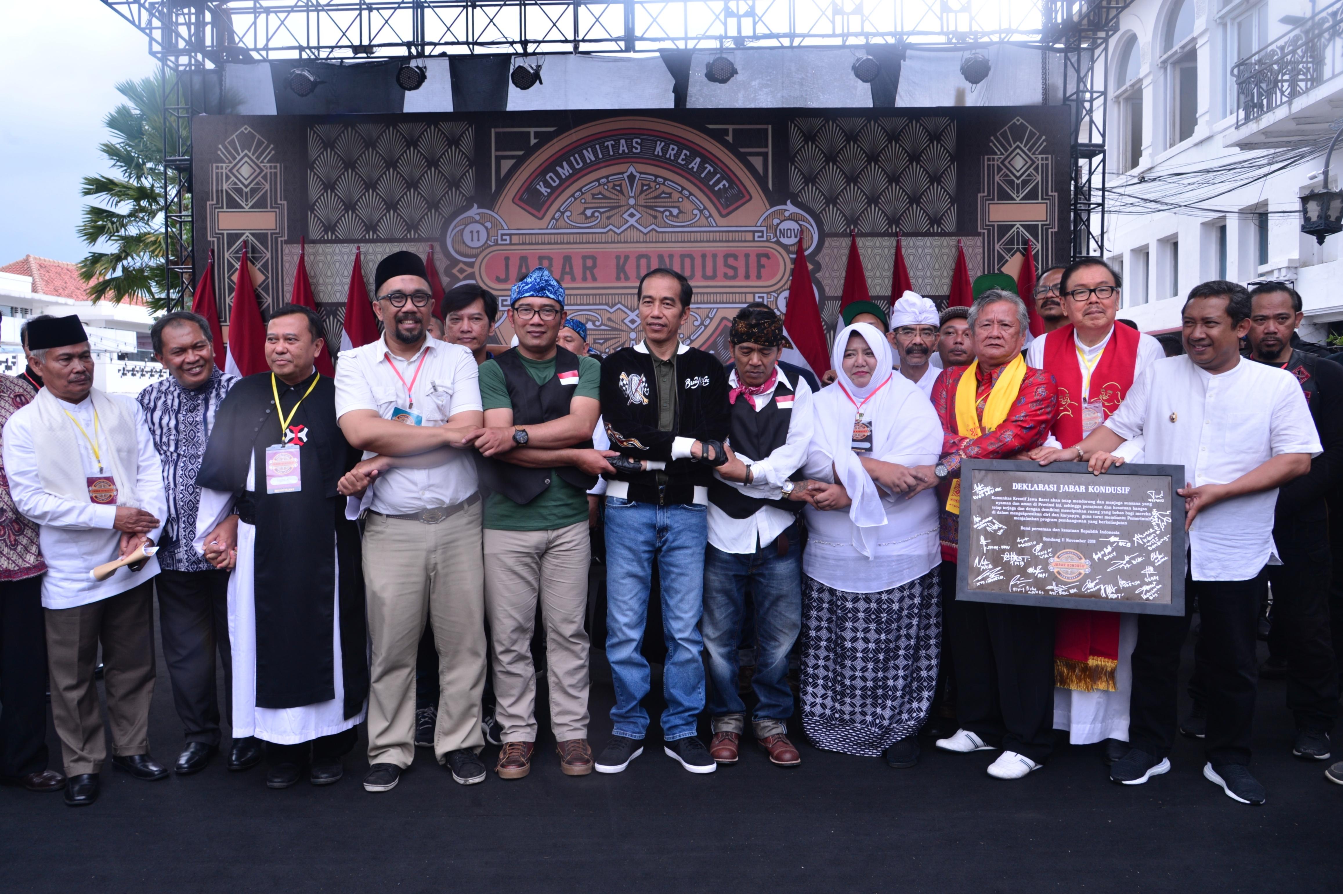 Kendarai Motor, Presiden Hadiri Deklarasi Jabar Kondusif di Bandung