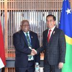 Presiden Jokowi Gelar Pertemuan Bilateral Dengan PM Kepulauan Solomon