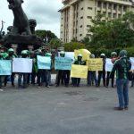 Puluhan Pengemudi Ojek Online di Ponorogo Gelar Aksi Protes Pernyataan Prabowo