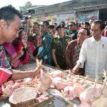 Presiden Jokowi Blusukan ke Pasar Ngemplak