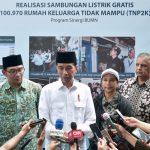 Sambungan Listrik Gratis untuk Keluarga Miskin, Presiden Jokowi : Akan Terus Dilakukan
