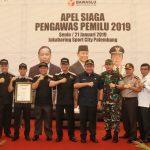 Wiranto Apresiasi Apel Siaga Pengawas Pemilu se-Sumatera Selatan