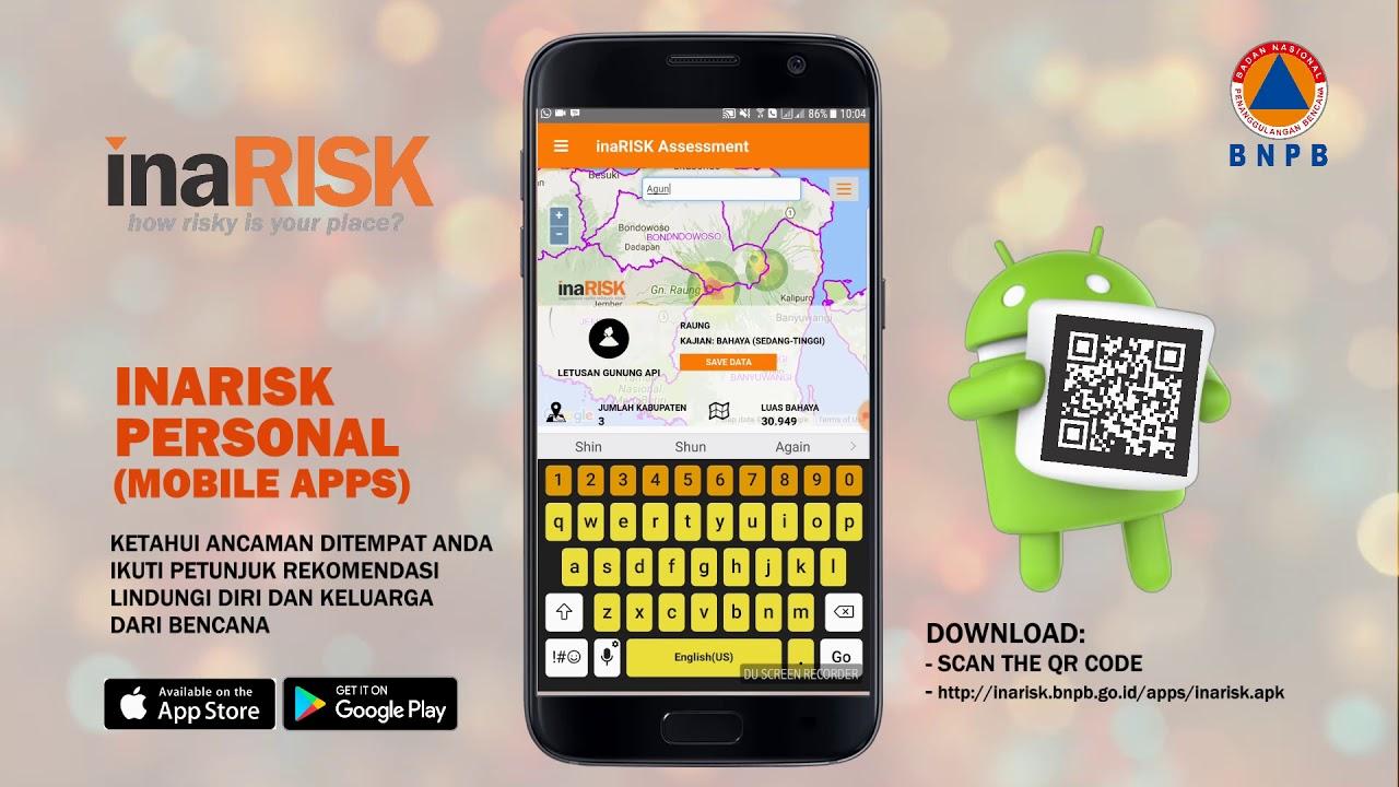 BNPB Sosialisasikan Aplikasi Kebencanaan InaRISK Personal