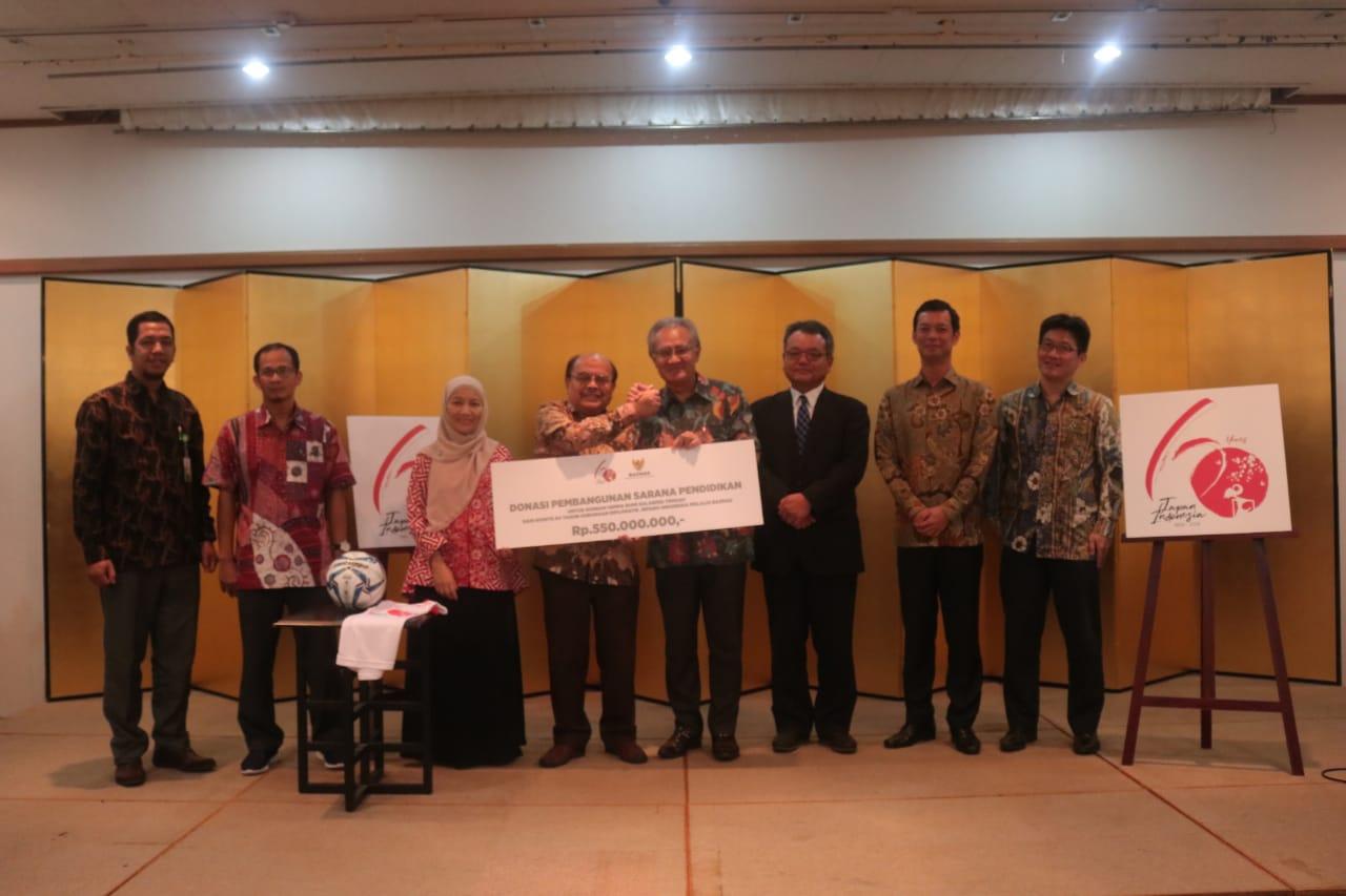 Komite 60 Tahun Jepang-Indonesia Gandeng BAZNAS Bantu Rekonstruksi Sekolah di Sulteng