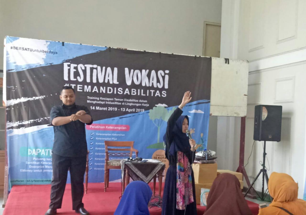 Berdayakan Penyandang Disabilitas Melalui Festival Vokasi