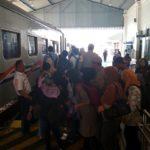 H-3 Lebaran, Terjadi Peningkatan Jumlah Penumpang di Stasiun Kediri
