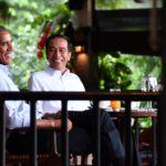 Presiden Jokowi Suguhi Teh dan Bakso Saat Terima Obama di Kebun Raya Bogor