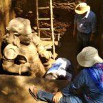 Arca Purbakala Dwarapala Peninggalan Kerajaan Ditemukan di Kediri