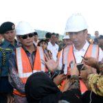 Presiden Jokowi Tinjau Pembangunan Bendungan Terbesar Ketiga di Indonesia