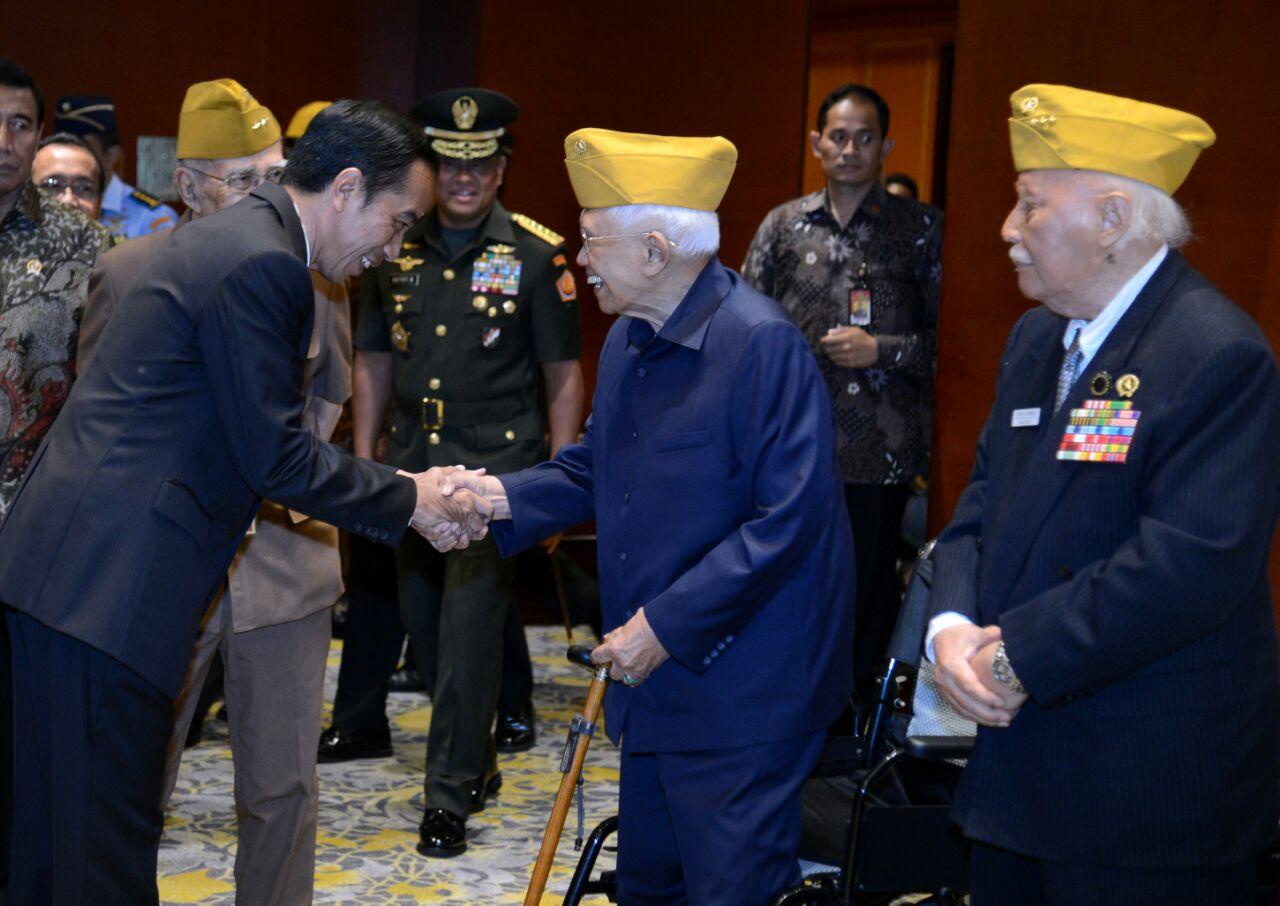 Presiden Jokowi Sebut Perjuangan Veteran Sumber Semangat Bangsa