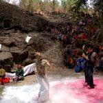 Pagelaran Seni Kolaborasi Lintas Budaya di Selomangkleng, Kota Kediri