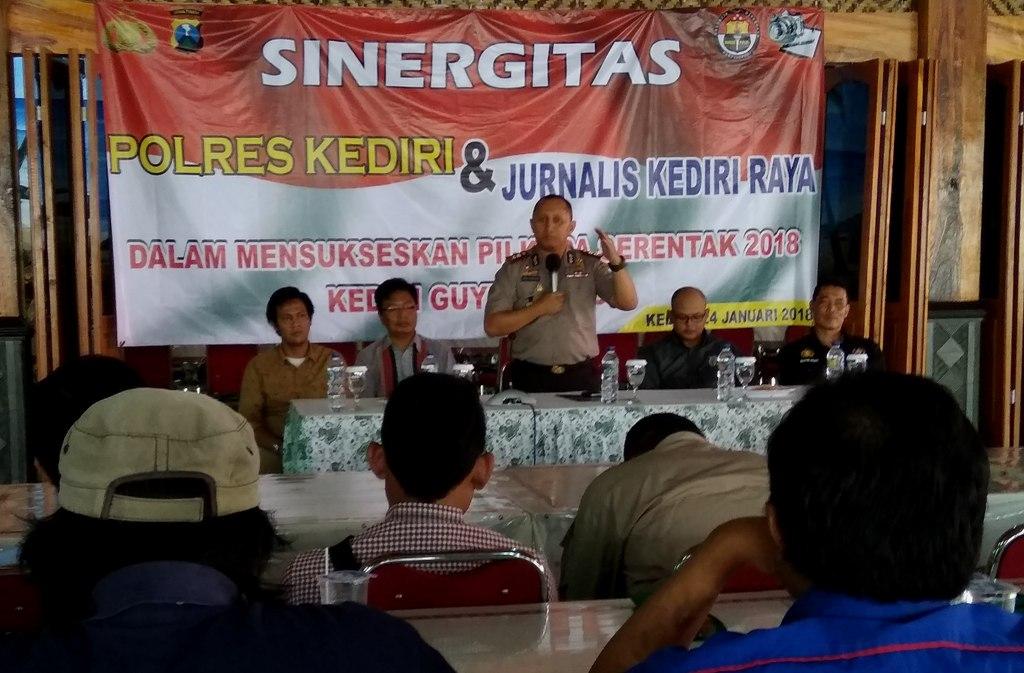 Jaga Kondusifitas, Polres Kediri Ajak Media Tidak Beritakan Hoax dan Isu SARA Jelang Pilkada