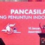 Hadiri Peringatan HUT ke 45 PDI Perjuangan, Presiden Gelorakan Semangat Indonesia Maju