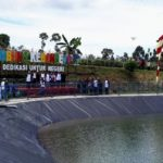 BI Kediri Bantu Pembangunan Embung Tadah Hujan di Desa Kebon Rejo