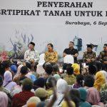 Di Surabaya, Presiden Jokowi Bagikan 5.000 Sertifikat Tanah