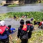 BPBD Kota Kediri Edukasi Masyarakat Melalui Kegiatan Bersih Sungai Brantas