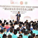 Pertama Kali, Presiden Jokowi Luncurkan Bank Wakaf Mikro di Luar Jawa