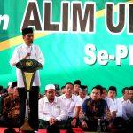 Presiden Jokowi Ajak Santri Muda Bersikap Optimistis Menatap Masa Depan Bangsa