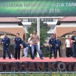 Senam Bersama Masyarakat Tangerang, Presiden Jokowi Serukan Pola Hidup Sehat