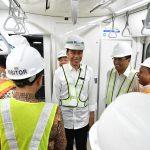 Presiden Jokowi Mencoba MRT dari HI Hingga Lebak Bulus