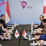 Presiden Jokowi Gelar Pertemuan Bilateral Bahas Kerja Sama Ekonomi Bersama PM Shinzo Abe