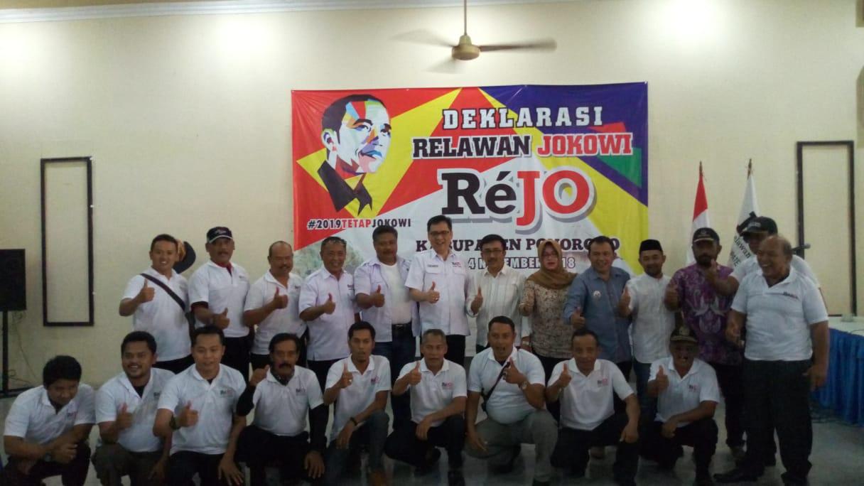 Relawan Jokowi-Amin Deklarasi di Ponorogo