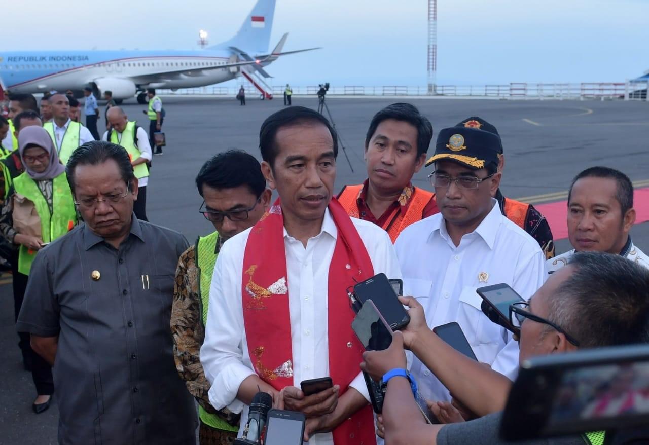 Resmikan Bandara Morowali dan Empat Terminal Bandara Lainnya di Sulawesi, Ini Harapan Presiden