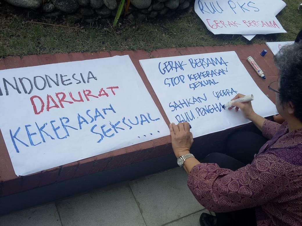GEMAS Tagih Janji DPR Sahkan RUU P-KS