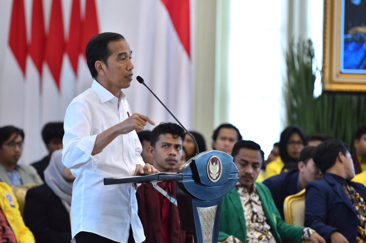 Presiden Sampaikan Program Pembangunan Nasional Kepada Mahasiswa