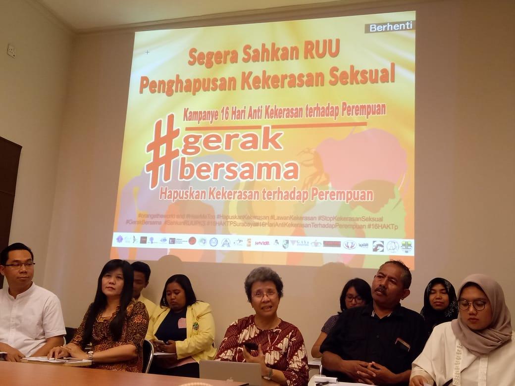 Aktivis Jatim Dukung Pengesahan RUU Penghapusan Kekerasan Seksual