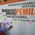 KPU Kota Kediri Sosialisasikan Pemilu 2019 Kepada Komunitas Disabilitas